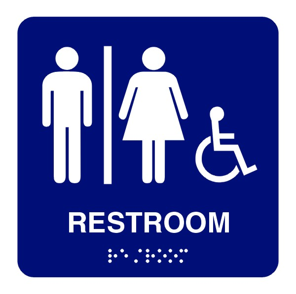 wheelchair bathroom symbol